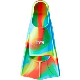 TYR Stryker Silikonefinner XS Børn, green/yellow/orange